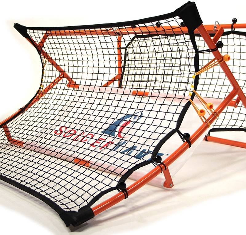 Works as a Solo Trainer or Team Training for All Soccer Drills. 2 in 1 Soccer Rebounder net to Improve Passing Accuracy Volley Shot and Trapping Patented,Trademarked SoccerWave Jr